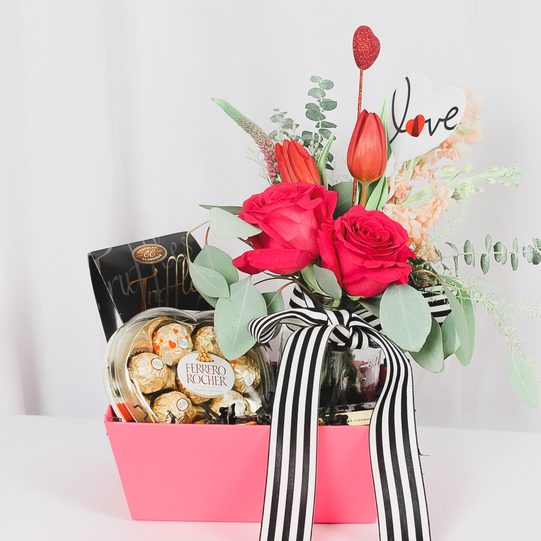 FloralBash flowers and chocolates package