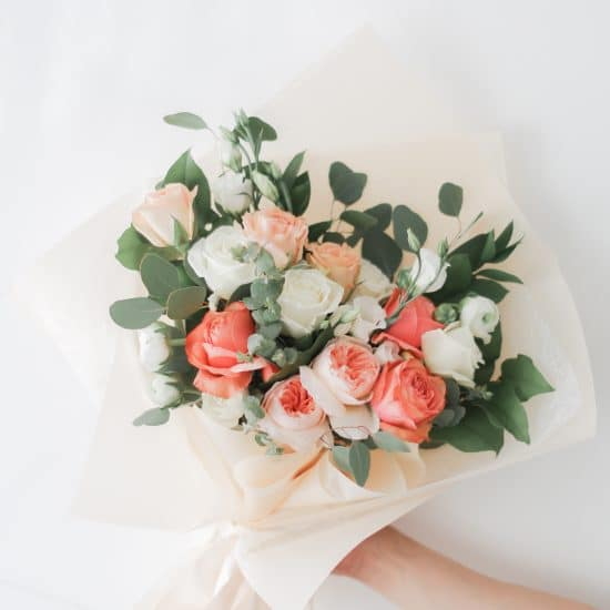 Peach Coral Fresh Bouquet Delivery Toronto